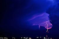 Lightning and Moonrise over Manila Bay