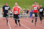 May 17, 2011 Colorado Springs, CO.  The 100 meter dash competition during the 2011 Warrior Games at the U.S. Olympic Training Center, Colorado Springs, CO...