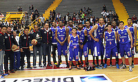 BOGOTA -COLOMBIA- 23 -11--2013. Equipo de Guerreros de Bogota ,juego correspondiente al partido entre  Guerreros de Bogota y Academia de la Montaña , segundo encuentro  de la final  de la Liga Directv de Baloncesto disputado en el coliseo El Salitre   /  Guerreros ofBogota team, game for the Guerreros of Bogota match between  and Academia de la  Montaña , second game of the finals of the Directv Basketball League played at the Coliseum El Salitre .Photo: VizzorImage / Felipe Caicedol / Staff