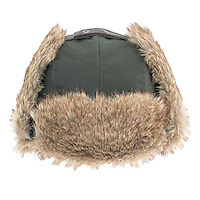 Studio photograph of the Mens Wax Trapper Hat