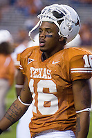 04 November 2006: Texas tight end Jermichael Finley warms up before the Longhorns 36-10 victory over the Oklahoma State University Cowboys at Darrel K Royal Memorial Stadium in Austin, Texas.