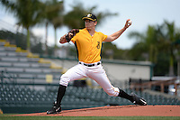 Bradenton Marauders pitcher Steven Brault (35) delivers a pitch during a game against the St. Lucie Mets on April 12, 2015 at McKechnie Field in Bradenton, Florida.  Bradenton defeated St. Lucie 7-5.  (Mike Janes/Four Seam Images)
