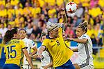 17.07.2017, Rat Verlegh Stadion, Breda, NLD, Breda, UEFA Women's Euro 2017 , <br /> <br /> im Bild | picture shows<br /> Nilla Fischer (Schweden #5) gegen Josephine Henning (Deutschland #2), <br /> <br /> Foto &copy; nordphoto / Rauch