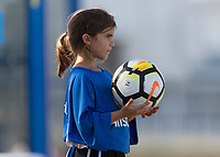 Bradenton, FL - Sunday, June 10, 2018: Ball girl during a U-17 Women's Championship match between the United States and Haiti at IMG Academy.  USA defeated Haiti 3-2 to advance to the finals.