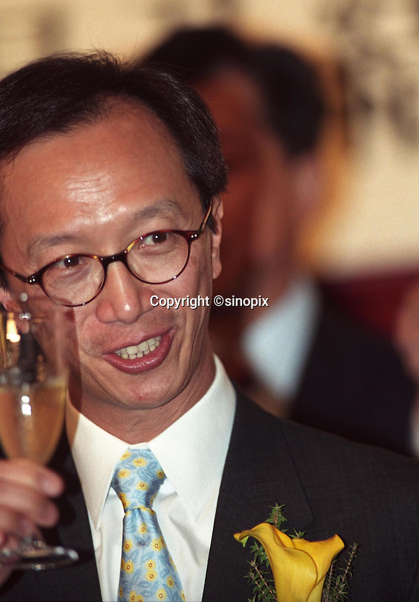 Former Hong Kong Financial Secretary Antony Leung in Hong Kong in June 2002<br /> <br /> Photo by Marcus Oleniuk/sinopix<br /> &copy;sinopix