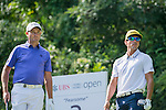 Rafael Cabrera Bello of Spain (in white) and Sam Brazel of Australia (in blue) at tee off during the 58th UBS Hong Kong Golf Open as part of the European Tour on 11 December 2016, at the Hong Kong Golf Club, Fanling, Hong Kong, China. Photo by Marcio Rodrigo Machado / Power Sport Images