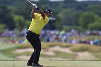Hideki Matsuyama (JPN) tees off the 7th tee during Friday's Round 2 of the 117th U.S. Open Championship 2017 held at Erin Hills, Erin, Wisconsin, USA. 16th June 2017.<br /> Picture: Eoin Clarke | Golffile<br /> <br /> <br /> All photos usage must carry mandatory copyright credit (&copy; Golffile | Eoin Clarke)