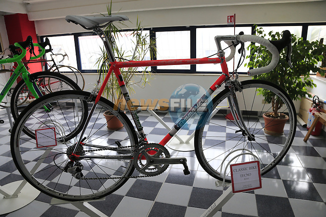 Tecno Classic on display in the showroom at the Tommasini factory based in Grosseto, Tuscany, Italy 6th March 2017.<br /> Picture: Eoin Clarke | Newsfile<br /> <br /> <br /> All photos usage must carry mandatory copyright credit (© Newsfile | Eoin Clarke)