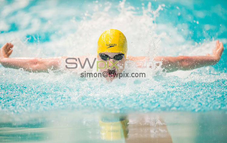 Picture by Allan McKenzie/SWpix.com - 31/07/2015 - Swimming - British Summer Championships 2015 - Ponds Forge International Sports Centre- Sheffield, England - Luke Greenbank races in the Men's 17/18yrs Butterfly.