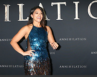 "LOS ANGELES - FEB 13:  Gina Rodriguez at the ""Annihilation"" Los Angeles Premiere at Village Theater on February 13, 2018 in Westwood, CA"