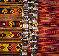 Rugs on show at the central rug market in Teotitlan de Valle near Oaxaca, Mexico, Monday April 9, 2012...Photo by MATT NAGER