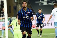 24th June 2020, Bergamo, Italy; Seria A football league, Atalanta versus Lazio;  Jose Luis Palomino celebrates his goal for 3-2 in the 80th minute