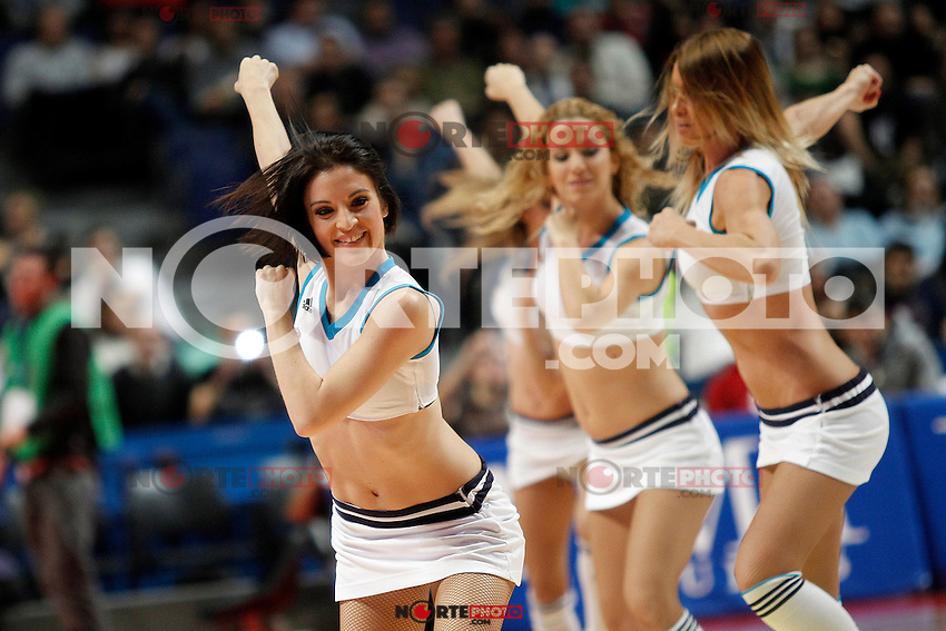 Real Madrid's cheerleaders during Euroleague 2012/2013 match.November 23,2012. (ALTERPHOTOS/Acero) /NortePhoto