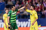 Goalkeeper Andres Fernandez Moreno (L) and Mateo Pablo Musacchio of Villarreal CF (R) during the La Liga match between Atletico de Madrid vs Villarreal CF at the Estadio Vicente Calderon on 25 April 2017 in Madrid, Spain. Photo by Diego Gonzalez Souto / Power Sport Images