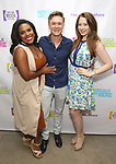 "Bryonha Marie Parham, Josh Canfield and Megan Loughran backstage at the New York Musical Festival production of  ""Alive! The Zombie Musical"" at the Alice Griffin Jewel Box Theatre on July 29, 2019 in New York City."