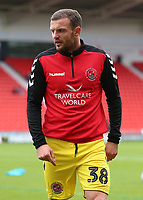 Fleetwood Town's James Wallace during the pre-match warm-up <br /> <br /> Photographer David Shipman/CameraSport<br /> <br /> The EFL Sky Bet League One - Doncaster Rovers v Fleetwood Town - Saturday 6th October 2018 - Keepmoat Stadium - Doncaster<br /> <br /> World Copyright © 2018 CameraSport. All rights reserved. 43 Linden Ave. Countesthorpe. Leicester. England. LE8 5PG - Tel: +44 (0) 116 277 4147 - admin@camerasport.com - www.camerasport.com
