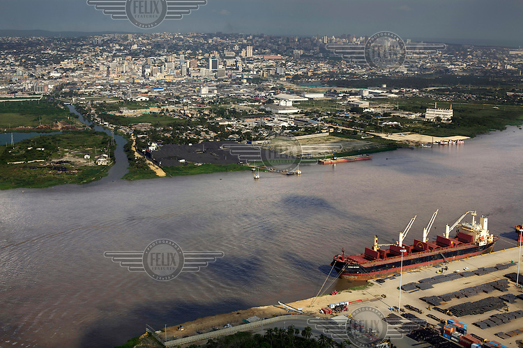 The city of Barranquilla on the shores of the Magdalena River where it runs into the Caribbean. /Felix Features