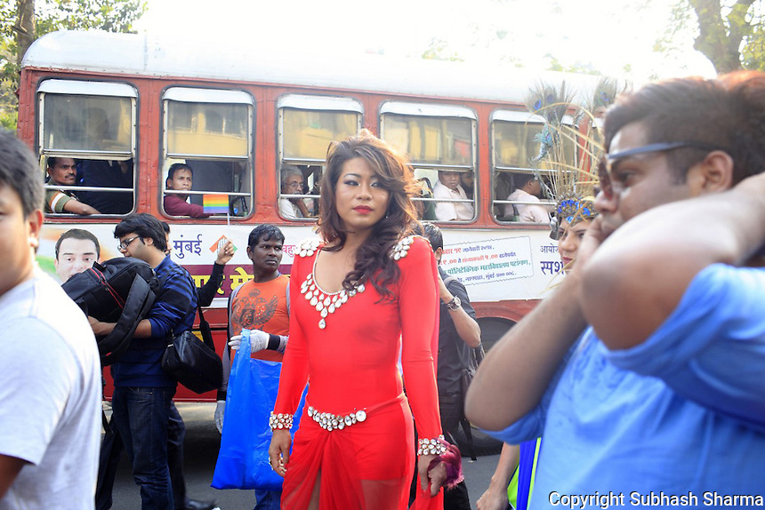 LGBT Queer Pride March in Mumbai ,India 2014.