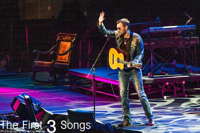 "Eric Church performs at the George Jones Tribute Concert ""Playin' Possum: The Final No Show"" at Bridgestone Arena in Nashville, TN"