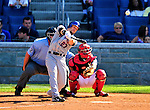 4 July 2010: New York Mets outfielder Jesus Feliciano makes a 9th inning plate appearance against the Washington Nationals at Nationals Park in Washington, DC. The Mets defeated the Nationals 9-5, splitting their 4-game series. Mandatory Credit: Ed Wolfstein Photo