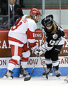 Holly Lorms (BU - 8), Pamela McDevitt (Providence - 12) - The Boston University Terriers defeated the Providence College Friars 5-3 on Saturday, November 14, 2009, at Agganis Arena in Boston, Massachusetts.