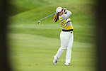 Inbee Park hits her ball on the 3rd fairway at the LPGA Championship 2014 Sponsored By Wegmans at Monroe Golf Club in Pittsford, New York on August 16, 2014