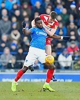 Paul Downing of Doncaster Rovers grapples with Omar Bogle of Portsmouth during Portsmouth vs Doncaster Rovers, Sky Bet EFL League 1 Football at Fratton Park on 2nd February 2019