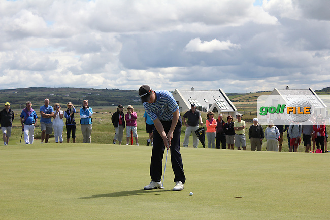 Mark MacGrath (Limerick) on the 15th green during Matchplay Round 3 of the South of Ireland Amateur Open Championship at LaHinch Golf Club on Saturday 25th July 2015.<br /> Picture:  Golffile | TJ Caffrey