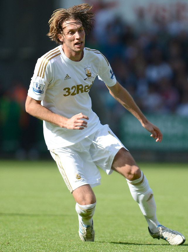 Swansea City's Michu in action during todays match  ..Football - Barclays Premiership - Swansea City v Everton - Saturday 22nd September 2012 - Liberty Stadium - Swansea..