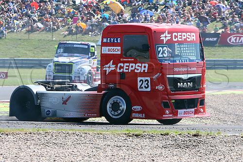 30.08.2015. Most, Czech Republic. FIA European Truck Racing Championship. Czech Truck Prix. 3rd raceAntonio ALBACETE (ESP), MAN, Cepsa Truck Team,