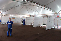 Campinas (SP), 08/04/2020 - Covid-19/Atendimento Unicamp - Em funcionamento nesta terça-feira (8), no estacionamento dos Hospital de Clinicas da Unicamp, na cidade de Campinas, interior de São Paulo uma tenda dos Expedicionários da Saúde para ajudar no Pronto Atendimento para demandas relacionadas ao novo coronavírus.