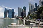 Promanade along Singapore waterfront