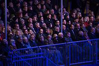 Festveranstaltung zum 30. Jahrestag des Mauerfall am Samstag den 9. November 2019 vor dem Brandenburger Tor.<br /> Im Bild: Unter den Gaesten war auch Bundeskanzlerin Angela Merkel, CDU. Vordere Reihe 7. vl.<br /> 9.11.2019, Berlin<br /> Copyright: Christian-Ditsch.de<br /> [Inhaltsveraendernde Manipulation des Fotos nur nach ausdruecklicher Genehmigung des Fotografen. Vereinbarungen ueber Abtretung von Persoenlichkeitsrechten/Model Release der abgebildeten Person/Personen liegen nicht vor. NO MODEL RELEASE! Nur fuer Redaktionelle Zwecke. Don't publish without copyright Christian-Ditsch.de, Veroeffentlichung nur mit Fotografennennung, sowie gegen Honorar, MwSt. und Beleg. Konto: I N G - D i B a, IBAN DE58500105175400192269, BIC INGDDEFFXXX, Kontakt: post@christian-ditsch.de<br /> Bei der Bearbeitung der Dateiinformationen darf die Urheberkennzeichnung in den EXIF- und  IPTC-Daten nicht entfernt werden, diese sind in digitalen Medien nach §95c UrhG rechtlich geschuetzt. Der Urhebervermerk wird gemaess §13 UrhG verlangt.]