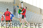 Sean O' Shea Kenmare in action against Micheál Duffy Kilfenora in the Munster Intermediate Club Football Championship Semi-Final at Fitzgerald Stadium on Sunday.