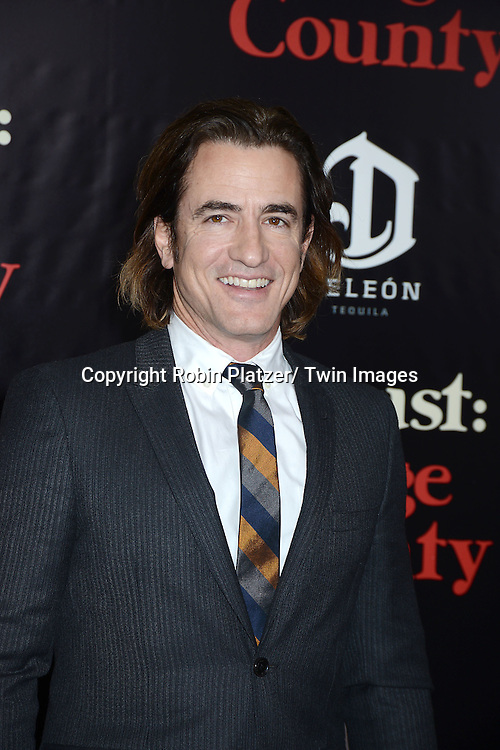 "Dermot Mulroney attends the New York Premiere of ""August: Osage County"" on December 12, 2013 at the Ziegfeld Theatre in New York City."