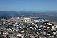 aerial photograph Mountain View and Sunnyvale toward San Francisco, Silicon Valley, California