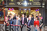 Kieran Donaghy cuts the tape to officially reopen Keane's Jewellers in Killarney on Saturday.