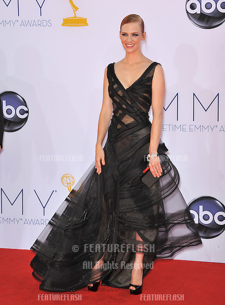 January Jones at the 64th Primetime Emmy Awards at the Nokia Theatre LA Live..September 23, 2012  Los Angeles, CA.Picture: Paul Smith / Featureflash