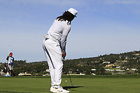 NFL Arizona Cardinals wide receiver Larry Fitzgerald putts on 6th green during Sunday's Final Round of the 2018 AT&amp;T Pebble Beach Pro-Am, held on Pebble Beach Golf Course, Monterey,  California, USA. 11th February 2018.<br /> Picture: Eoin Clarke | Golffile<br /> <br /> <br /> All photos usage must carry mandatory copyright credit (&copy; Golffile | Eoin Clarke)