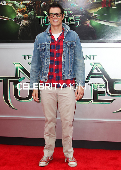 WESTWOOD, LOS ANGELES, CA, USA - AUGUST 03: Johnny Knoxville at the Los Angeles Premiere Of Paramount Pictures' 'Teenage Mutant Ninja Turtles' held at Regency Village Theatre on August 3, 2014 in Westwood, Los Angeles, California, United States. (Photo by Celebrity Monitor)