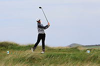 Action on the 10th tee during the Flogas Irish Amateur Open Championship 2019 at the Co.Sligo Golf Club, Rosses Point, Sligo, Ireland. 15/05/19<br /> <br /> Picture: Thos Caffrey / Golffile<br /> <br /> All photos usage must carry mandatory copyright credit (© Golffile | Thos Caffrey)