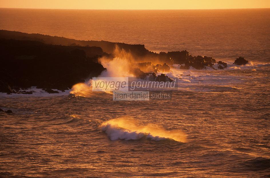 Europe/Espagne/Canaries/Lanzarote/Casas de El Golfo : La côte volcanique