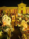 Cimitero comunale di San Rocco in the evening in Tuscany, Italy