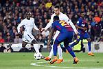 UEFA Champions League 2017/2018.<br /> Round of 16 2nd leg.<br /> FC Barcelona vs Chelsea FC: 3-0.<br /> Eden Hazard vs Samuel Umtiti.