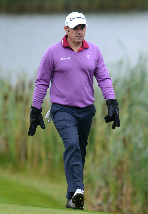 2014 Ryder Cup Captain Paul Mcginley walks up to the third green <br /> <br /> Photo by Ian Cook/CameraSport<br /> <br /> Golf - Day 1 - ISPS Handa Wales Open 2013 - Twenty Ten Course- Thursday 29th August 2013 - Celtic Manor Resort  - Newport<br /> <br /> &copy; CameraSport - 43 Linden Ave. Countesthorpe. Leicester. England. LE8 5PG - Tel: +44 (0) 116 277 4147 - admin@camerasport.com - www.camerasport.com