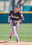 7 March 2016: Miami Marlins infielder Austin Nola in action during a Spring Training pre-season game against the Washington Nationals at Space Coast Stadium in Viera, Florida. The Nationals defeated the Marlins 7-4 in Grapefruit League play. Mandatory Credit: Ed Wolfstein Photo *** RAW (NEF) Image File Available ***