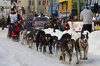 2010 Iditarod Ceremonial Start in Anchorage Alaska musher # 59 MICHAEL WILLIAMS , JR with Iditarider LEVY BYRD