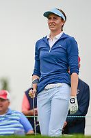 Florentyna Parker (ENG) watches her tee shot on 16 during Friday's second round of the 72nd U.S. Women's Open Championship, at Trump National Golf Club, Bedminster, New Jersey. 7/14/2017.<br /> Picture: Golffile | Ken Murray<br /> <br /> <br /> All photo usage must carry mandatory copyright credit (&copy; Golffile | Ken Murray)