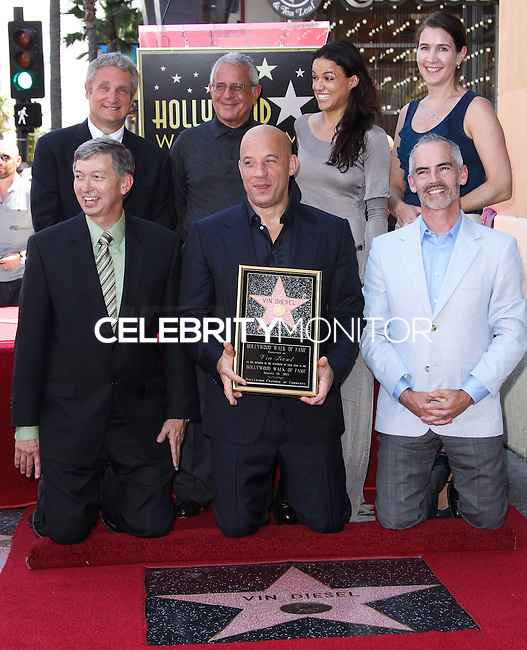 HOLLYWOOD, CA - AUGUST 26: Vin Diesel Honored With Star On The Hollywood Walk Of Fame held on August 26, 2013 in Hollywood, California. (Photo by Xavier Collin/Celebrity Monitor)