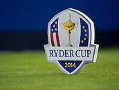 23.09.2014. Gleneagles, Auchterarder, Perthshire, Scotland.  The Ryder Cup.  The Ryder Cup Tee markers.